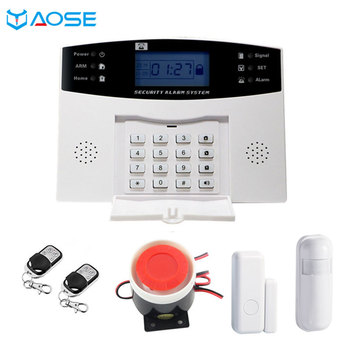 GSM Wired Wireless 433MHz Home Security Alarm System for Ios Android APP Control Autodial Siren Door Sensor PIR Sensor Alarm Kit security system for home alarm wireless 433mhz pstn network call number remote control pir sensor door open alarm sensor