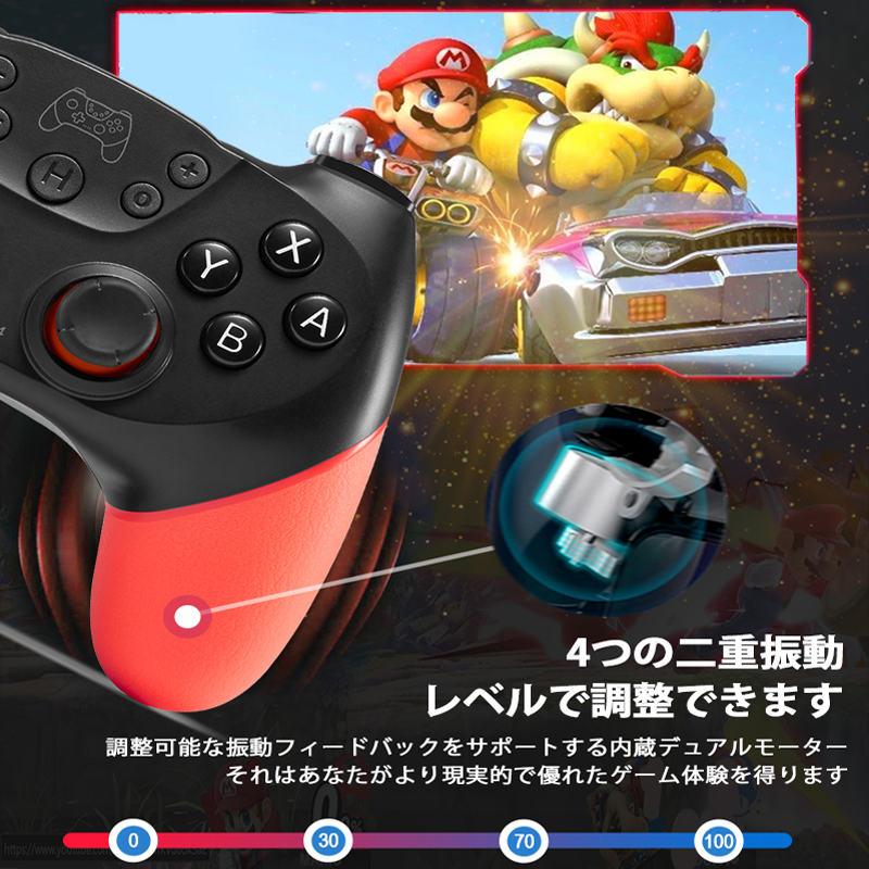 YOBWIN Wireless Bluetooth Gamepad For Nintend Switch Pro Game Controller Remote Joystick For Switch Console With 6-Axis Handle