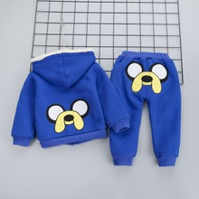 Kids Baby Boys Cartoon Clothing Set Coat Pants