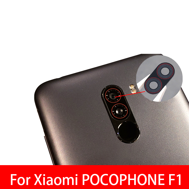 Rear Back Camera Glass Lens Cover ForFor Xiaomi Pocophone F1 With Adhesive Sticker