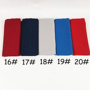 Image 5 - Foulard en mousseline de soie unie, 80 couleurs, châles de couleur unie, hijab populaire, écharpes musulmanes populaires, 10 pièces/lot