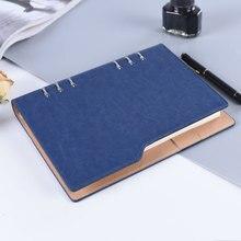 6 колец, переплет, ПУ кожа, Обложка, журнал, бизнес, офис, А5, записная книжка для путешественников,,, ежедневник, дневник, спиральный блокнот
