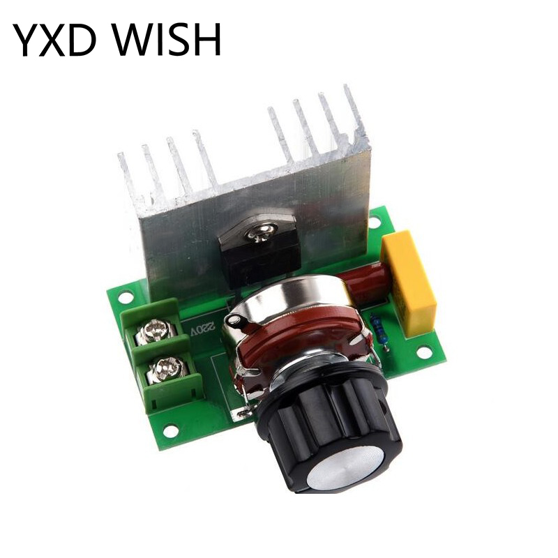 4000W AC 220V SCR Voltage Regulator Adjustable Brush Motor Speed Temperature Control Dimmer For Lamps Water 4000 W Dimmers(China)