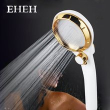 EHEH 95mm Large Panel Handhold Shower head Shower Spray Nozzle Water Saving High Pressure Stepless Adjustable Stop Button