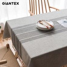 Mantel decorativo de lino con encaje mantel Rectangular, cubierta para mesa de comedor, Obrus Tafelkleed, mesa nappe U1755