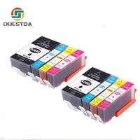 8 cartuchos de tinta compatíveis obestda dos pces para hp 920 deskjet 6000 6500 7000 7500a impressoras cartucho para hp920 xl 920xl com microplaqueta