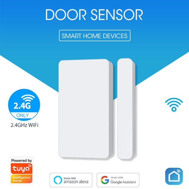 Tuya Smart WiFi Door Sensor Detector Door Window Open/Closed Detectors App Notification Alarm Support Alexa Google Home 2