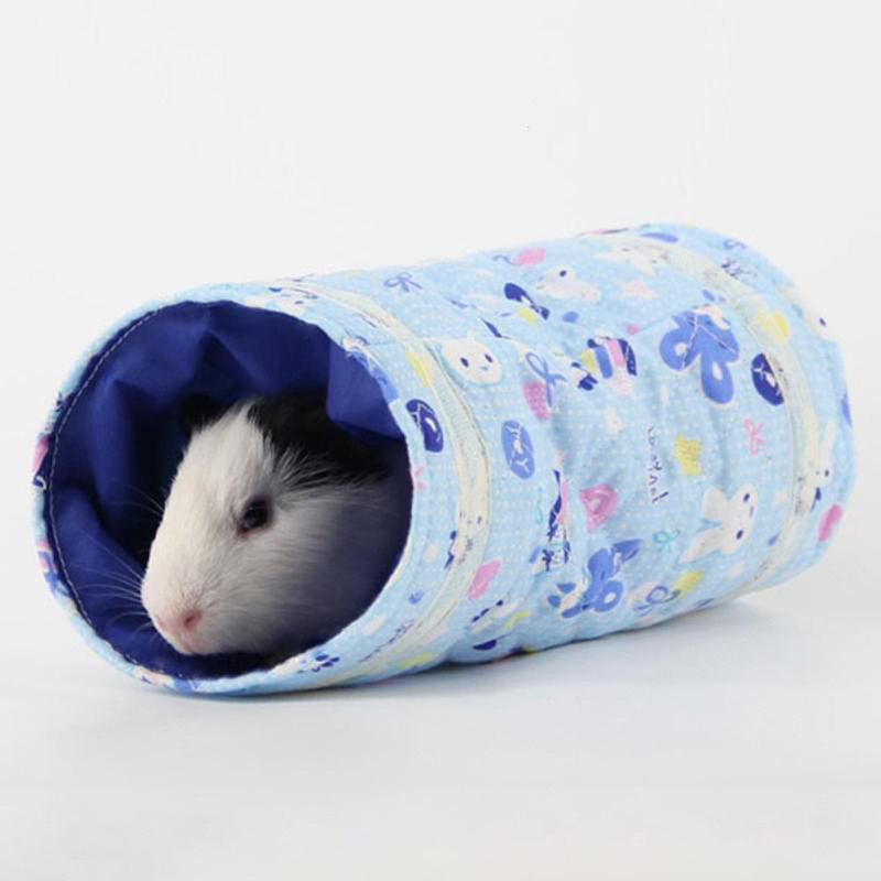 Cute Cartoon Pattern Hamster Toy Tunnel Small Pet Cartoon Pet Tubes Bed Nest For Rabbits Ferrets Guinea Pigs Small Animals