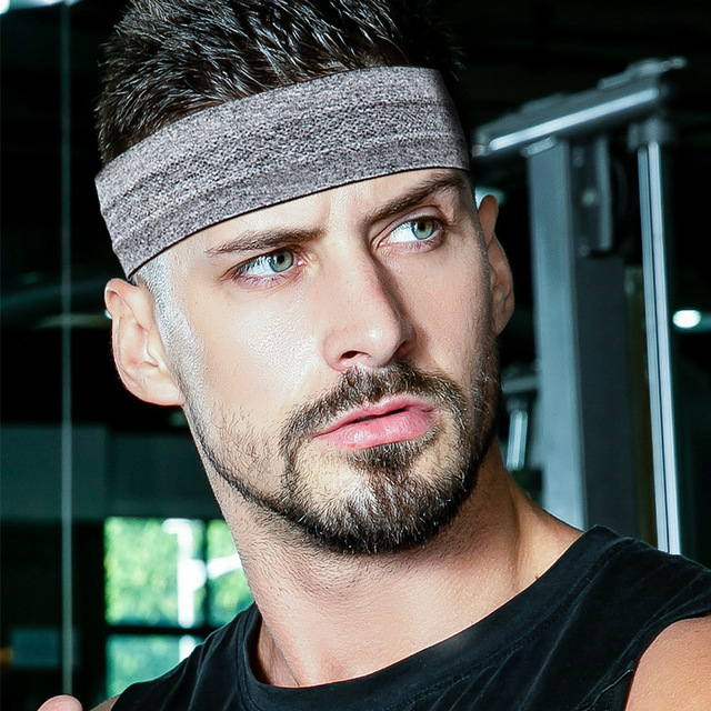 Sports Fitness Headband Sweat-absorbent Belt Non-slip Yoga Headband Headband Sport  Winter Headband Men 1