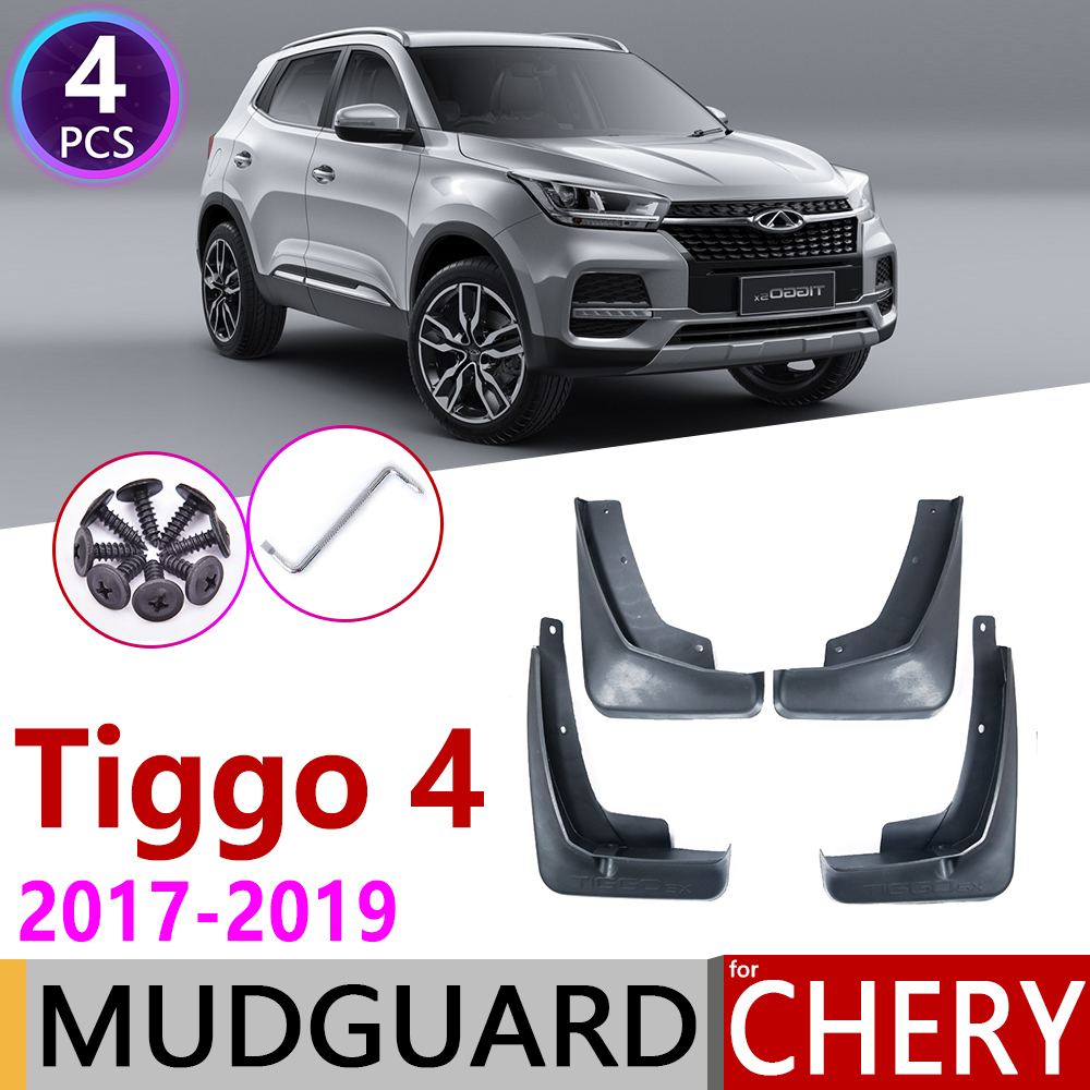 4 PCS for Chery Tiggo 4 Tiggo4 5X 2017 2018 2019 Front Rear Car Fender Mudguard Mudflaps Mud Guard Splash Flaps Accessories
