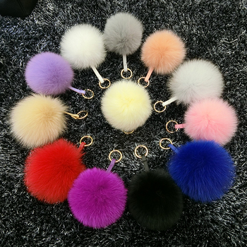 Fur fox fur ball pendant fur ball pendant bag pendant key chain pendant exquisite and cute pendant 12colors can for choice