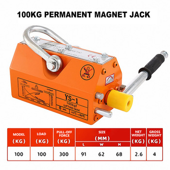 600KG 1t 400T Permanent magnet lifter powerful magnetic lifting 2 tons magnet 3 lifting crane Krauk permanent magnet suction cup