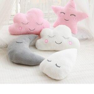 Image 5 - חדש ממולא ענן ירח כוכב טיפת גשם קטיפה כרית רכה כרית ענן ממולא בפלאש צעצועים לילדים בייבי ילדים ילדה כרית מתנה