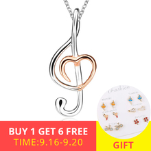 XiaoJing New recommend romantic music Note pendant chains necklace diy fashion jewelry accessories making for women gifts