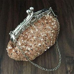 Image 4 - 2020 새로운 도착 클러치 지갑 실버 크리스탈 이브닝 백 여성 웨딩 Diamantes 파티 신부 핸드백 골드 스카이 블루 WY06