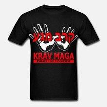 Desconto Camiseta 100% algodão Para O algodão Dos homens Cool Design 3D Camisetas Krav Maga Sistema di combattimento israeliano