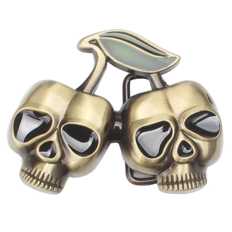 Skull Skeleton Belt Buckle Belt DIY Accessories Western Cowboy Style Smooth Belt Buckle Punk Rock Style K33