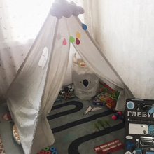 Children's Tent Carpet Tents-Decoration House Led-Lights Tipi Infantil Kids Portable