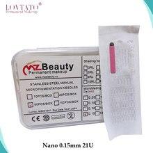 Microblading Aiguilles Nano 0.15mm U-Shape21U Tatouage Aiguilles Microblade Avec LOTNO. Exp Date Felix – maquillage Permanent pour sourcils, agujs