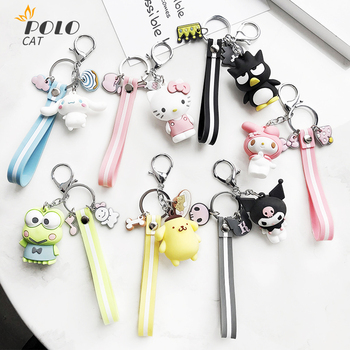 Lovely Cute Cartoon Kitten Cartoon Doll Key Chain Couple Female Bag Key Ring Pendant Creative Gift 2020 New Bags Accessories