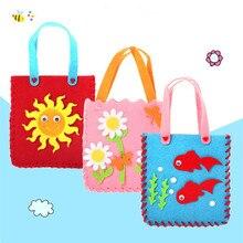 Мультяшная Нетканая ткань, ручная работа, сумка для детей, обучающая игрушка, мини-сумка, цветная сумка ручной работы, детские сумки с животными