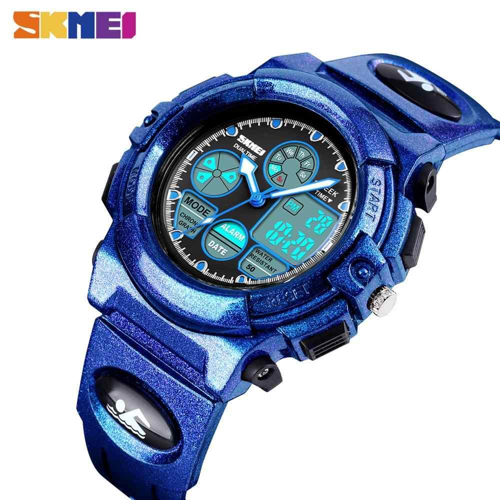 SKMEI, 5Bar, reloj de pulsera Digital luminoso para niños con cronógrafo a prueba de agua, relojes deportivos para niños y niñas, reloj de cuarzo electrónico