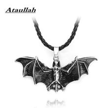 Ataullah Bat Necklaces For Men Women Europe America Halloween Bat Wing Pendant Necklace Gothic Vampire Chain Jewelry NW094(China)