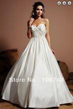 Бесплатная доставка 2016 Свадебные платья белые длинные искусственные