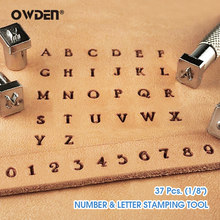 OWDEN 37Pcs Leathercraft Alphabet Number Stamping Tool Set Metal Leather Seal Engraving Printing Mold Engraving Stamps