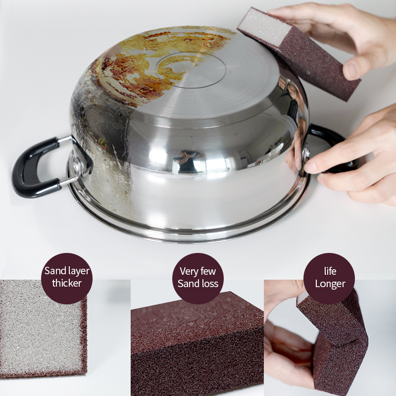 Magic Sponge Removing Rust  Clean Cotton Wipe Cleaner Kitchen Tool Kitchen accessories wash pot  gadgets 1