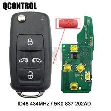 QCONTROL 4 + 1 BTCar مفتاح بعيد ل VW فولكسفاغن كارافيل شاران مولتيفان MPV T5 التحكم ID48 رقاقة 433MHz