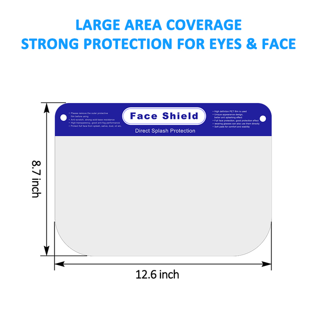 300pcs/lot Full Face Shield for Men Women ,Disposable Protective Face Shield Anti Splash and Saliva Clear Film Protect Face 4