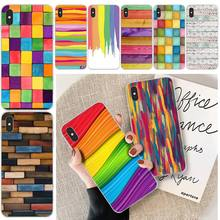 colorful blocks TPU Soft Silicone Phone Case Cover For iphone 6 6s plus 7 8 plus X XS XR XS MAX 11 11 pro 11 Pro Max Cover silicone phone case for iphone 8 7 6 6s plus x xr xs max soft tpu van gogh starry night cover for apple iphone 11 pro max coque