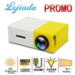 LEJIADA YG300 Pro LED Mini Projector 480x272 Pixels Supports 1080P HDMI USB Audio Portable Projector Home Media Video player