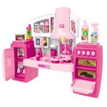 Набор игрушек для приготовления пищи, большой музыкальный светильник, игрушки для приготовления пищи, кухонный игровой набор, Кухонные Игрушки для маленьких детей
