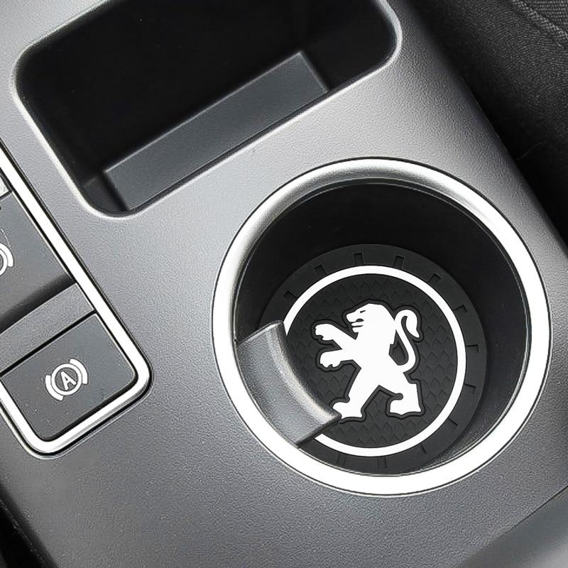 1pcs Car-Styling PVC Car Non-slip Water Coaster Mat Case For Peugeot 307 Peugeot 206 308 207 406 Car Accessories