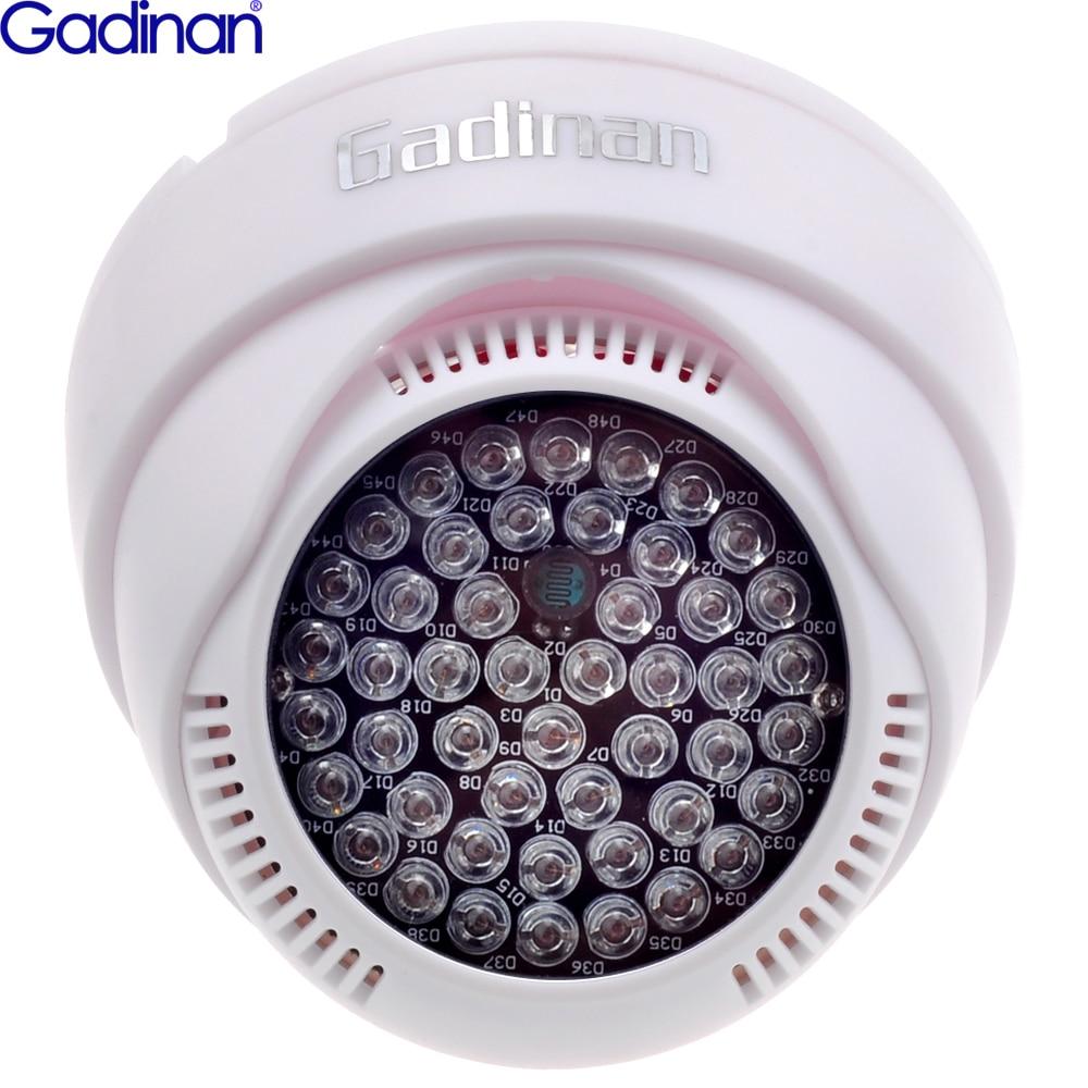 Gadinan 12 В 48 Светодиодный светильник-осветитель ИК-инфракрасного ночного видения, вспомогательный светодиодный светильник ABS пластиковый кор...