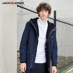 JackJones Мужская парка, пальто, удобная флисовая подкладка, длинная куртка, Мужская одежда, стиль 219309502