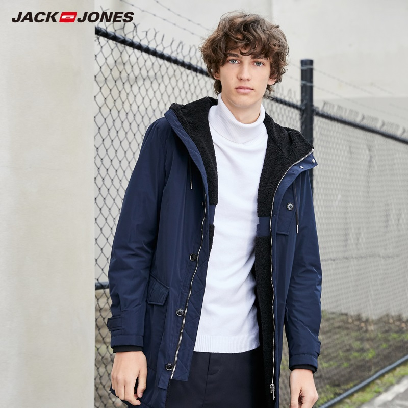JackJones Men's Parka Coat Comfort Fleeced Lining Long Jacket Menswear Style 219309502