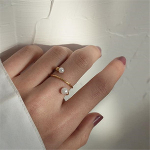 Image 5 - YKNRBPH Yellow 14K Gold Adjustable Pearl Ring For Womens Weddings Fine Jewelry Rings