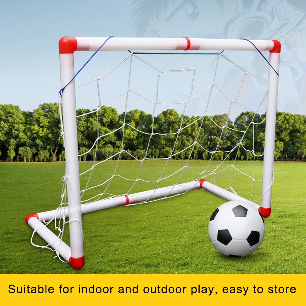 Indoor Outdoor Mini Children Football Soccer Goal Post Net Set With Ball Pump Kids Football Sport Toy For Garden Sport Playing
