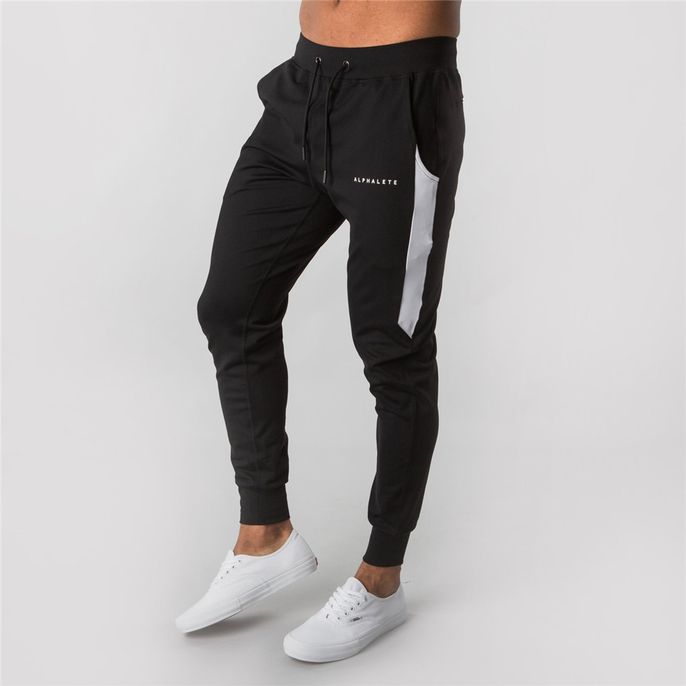 Joggers Sweatpants Men Casual Skinny Cotton Pants Gyms Fitness Sporty Brand Track Pants 2019 Autumn New Male Sportswear Trousers
