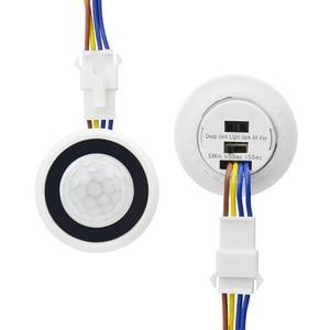 PIR motion sensor light switch 220V 110V time delay/Mode adjust Infrared Human Body motion Detector Auto control ON/OFF lighting(China)