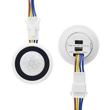Sensor de movimiento PIR interruptor de luz 220V 110V retardo de tiempo/modo ajuste infrarrojo movimiento del cuerpo humano Detector de movimiento control Automático encendido/apagado iluminación