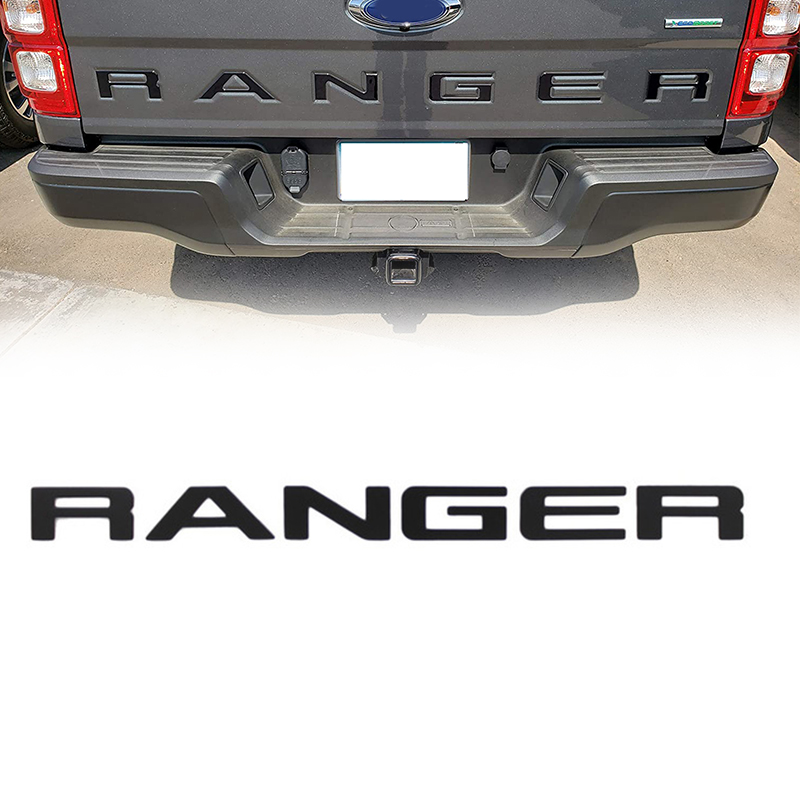 AL21-буквы для задней двери для Ford Ranger 2019 2020, 3D приподнятые и переводные буквы, эмблемы задней двери (черные)