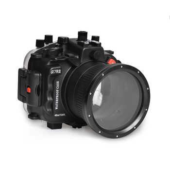 40 m/130ft para Sony A7 III A7R III A7M3 A7M III cubierta de la caja de buceo con (puerto estándar) negro