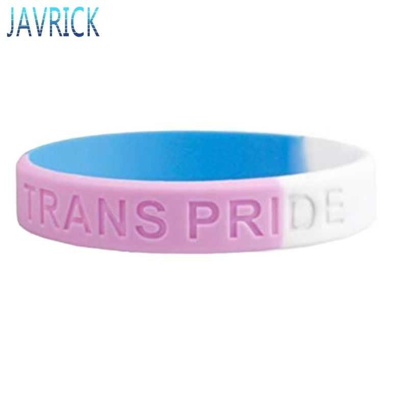 18 türleri Unisex LGBT gökkuşağı harfler spor bileklik altı renkli eşcinsel lezbiyen gurur silikon kauçuk bileklik bilezik parti geçit