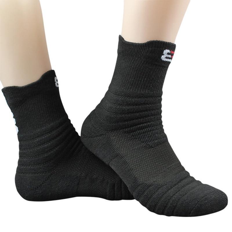 1 Pair Basketball Socks Man Thickening Towel Bottom Cotton Socks Outdoors Run Badminton Tennis Middle Tube Sport Thermosocks