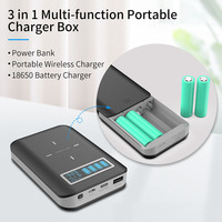 PD18w-Soporte de batería 4x18650 para móvil, cargador rápido USB para Xiaomi, Huawei, accesorios de cargador rápido