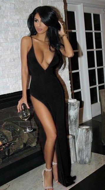 Deep Plunge Dress Clubwear Sexy Open Chest High Thigh Split Dress Spaghetti Strap Sukienka Low Cut Bare Back Dress Maxi Party 9